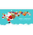 winter christmas composition in paper cut vector image