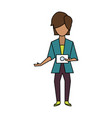 woman with tablet vector image