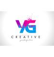 yg y g letter logo with shattered broken blue vector image vector image