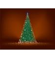 abstract green christmas tree vector image