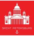 Isaac Cathedral in Saint Petersburg Russia Modern vector image