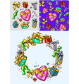 holidays packages gifts new year and christmas vector image