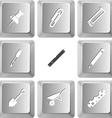 set computer keys vector image