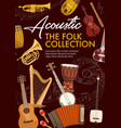 acoustic musical instruments folk music vector image vector image
