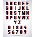 Alphabet triple font vector image vector image