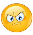 annoyed emoticon vector image vector image