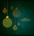 artistic creative hanging christmas balls made vector image vector image