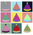assembly flat icons striped hat vector image vector image