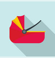 baby carriage basket icon flat style vector image vector image