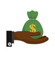 bag of money symbol vector image vector image