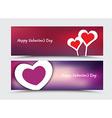 Banner design for Valentines Day vector image