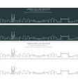 bordeaux single line skyline profile banner vector image vector image