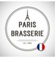 Brasserie Paris Badge vector image vector image