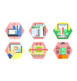 business money banking and finance icons set vector image