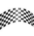 checkered curve white design race sport vector image vector image