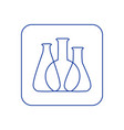chemical lab test tube icon vector image