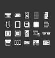 chip icon set grey vector image vector image