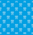 clean tooth pattern seamless blue vector image vector image