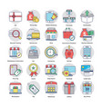 collection of shopping and commerce icons vector image vector image