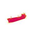 Container Ship Cargo Boat Mono Line vector image vector image