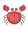 crab concept line icon editable stroke vector image