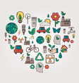 ecology and environment concept heart shape vector image