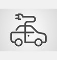 electric car icon sign symbol vector image vector image