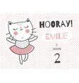 emilie ballerina cat vector image vector image