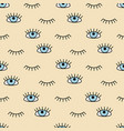 eye icons pattern flat and outline style open and vector image vector image