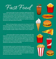 fast food poster or infographics template vector image vector image