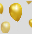 festive background with gold balloons vector image vector image