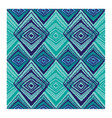 geometric pattern blue and turquoise vector image
