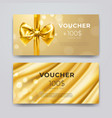 gift voucher design template set of premium vector image vector image