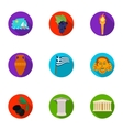 Greece set icons in flat style Big collection of vector image vector image