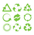 green recycle icons vector image vector image
