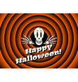 Halloween card with skeleton vector image