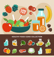 healthy eating low fat composition vector image vector image