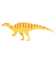 iguanodon in cartoon style isolated on a white vector image