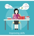 Improving Skills vector image