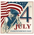 independence day - fourth july vintage vector image vector image