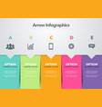 infographic template arrow business model vector image