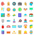 investment icons set cartoon style vector image vector image