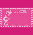 it s a girl shower card vector image