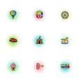 Kids games icons set pop-art style vector image vector image