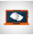 laptop technology weather forecast cloud icon vector image