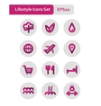 Lifestyle icons set vector image
