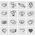 line heart icon set vector image vector image