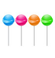 lollipops colored set vector image