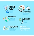 Medical healthcare infographic set with isometric vector image vector image