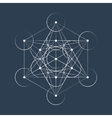 Metatrons Cube sacred geometry vector image vector image